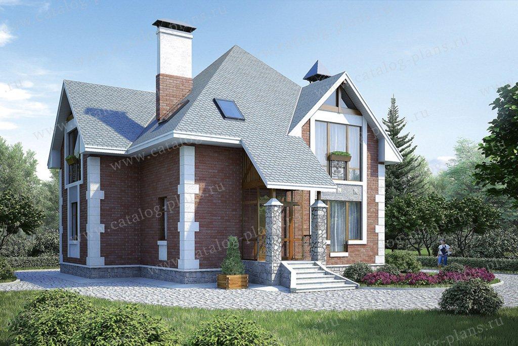 Проект жилой дом #36-68 материал - кирпич, стиль европейский