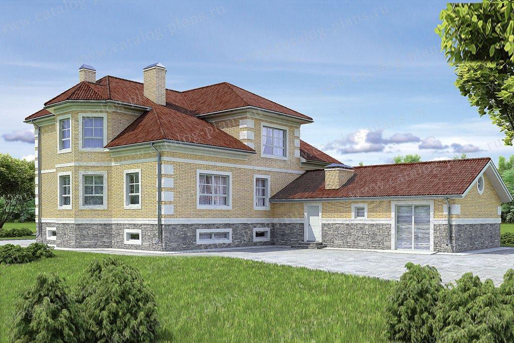 Проект жилой дом #36-36 материал - кирпич, стиль классический