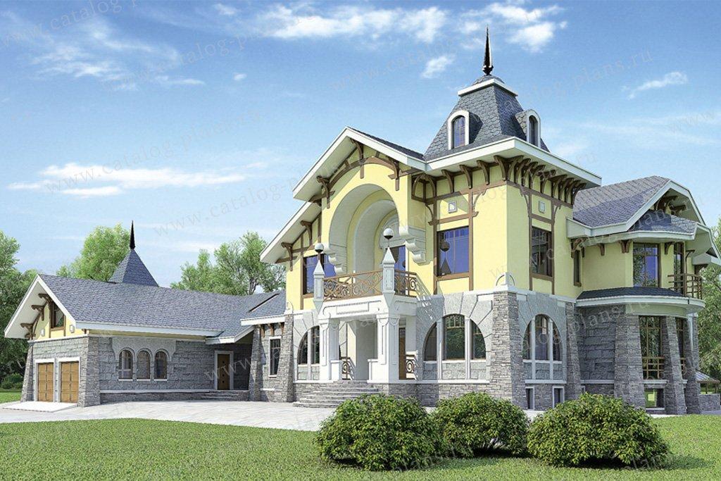 Проект жилой дом #36-07 материал - кирпич, стиль европейский