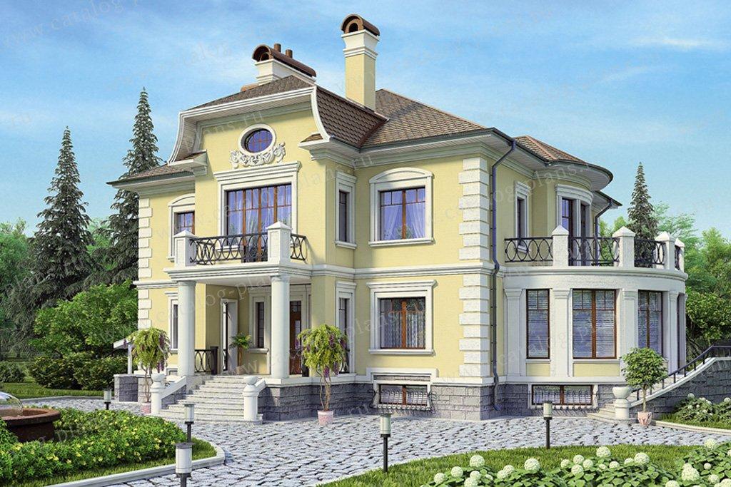 Проект жилой дом #36-38 материал - кирпич, стиль классический
