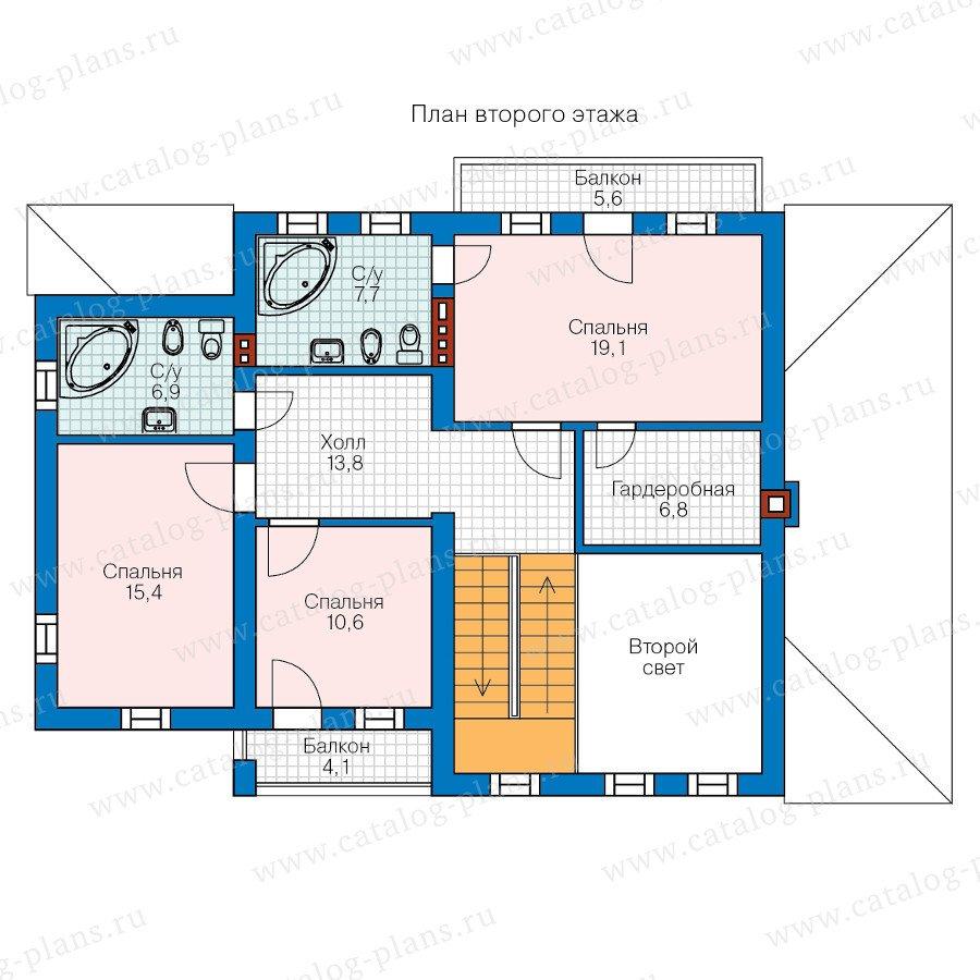 План 2-этажа проекта 60-48