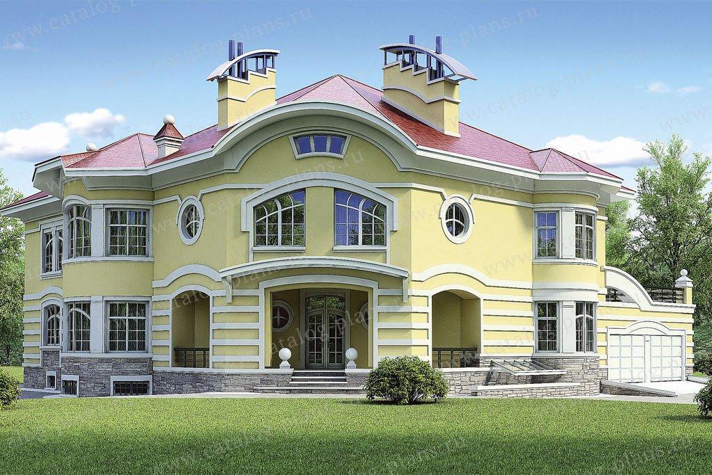 Проект жилой дом #36-23 материал - кирпич, стиль модерн