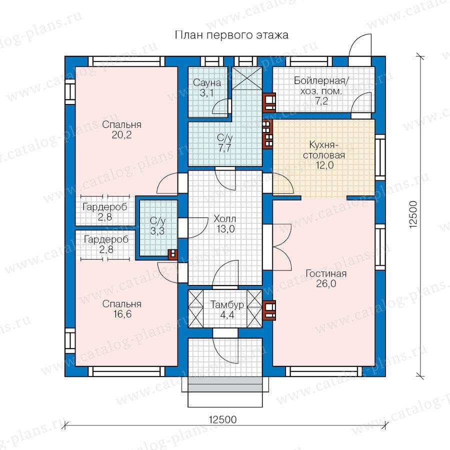 План 1-этажа проекта 60-50
