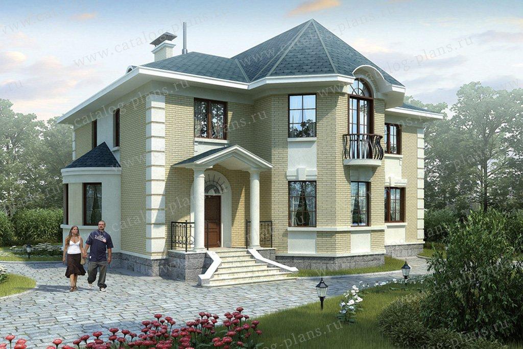 Проект жилой дом #36-03 материал - кирпич, стиль классический