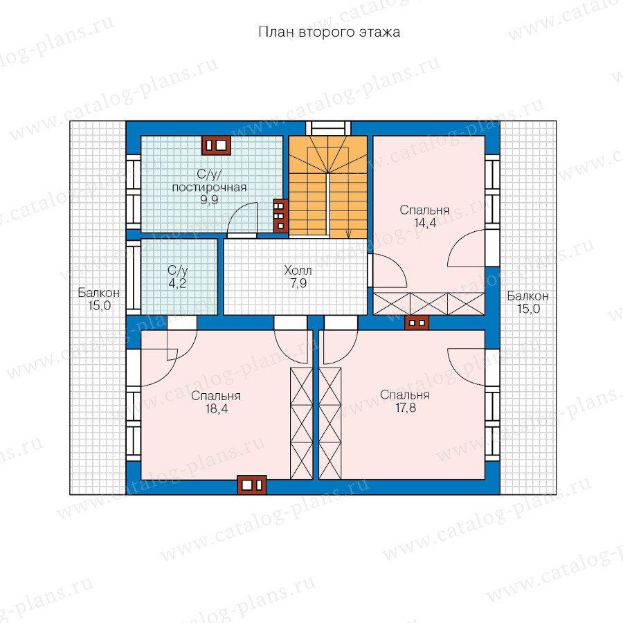 План 2-этажа проекта 60-49