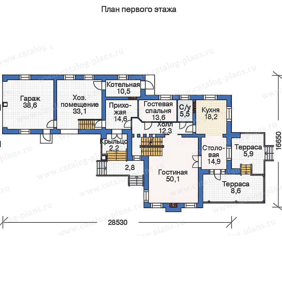 План 2-этажа проекта 36-02