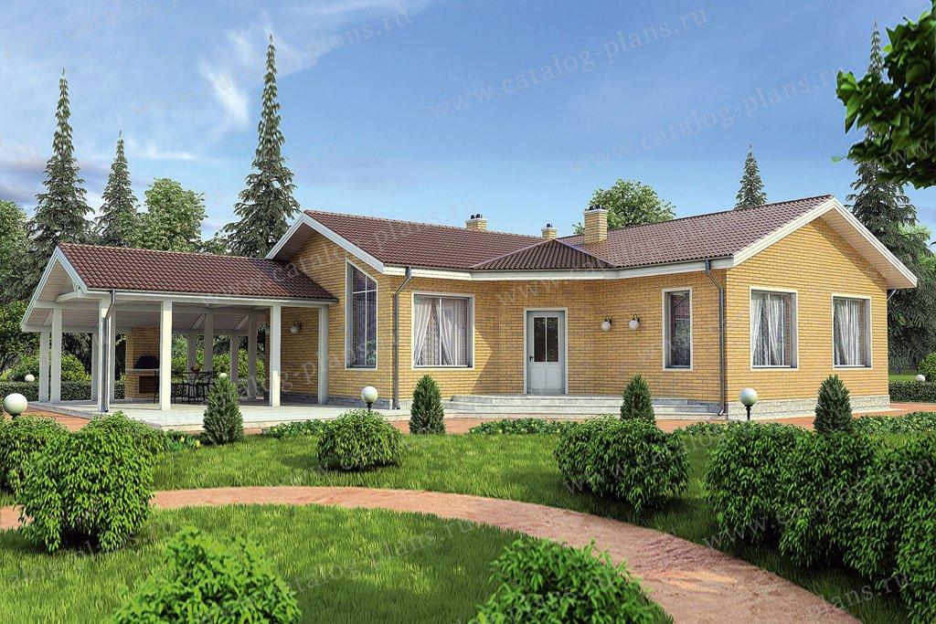 Проект жилой дом #36-53 материал - кирпич, стиль современный