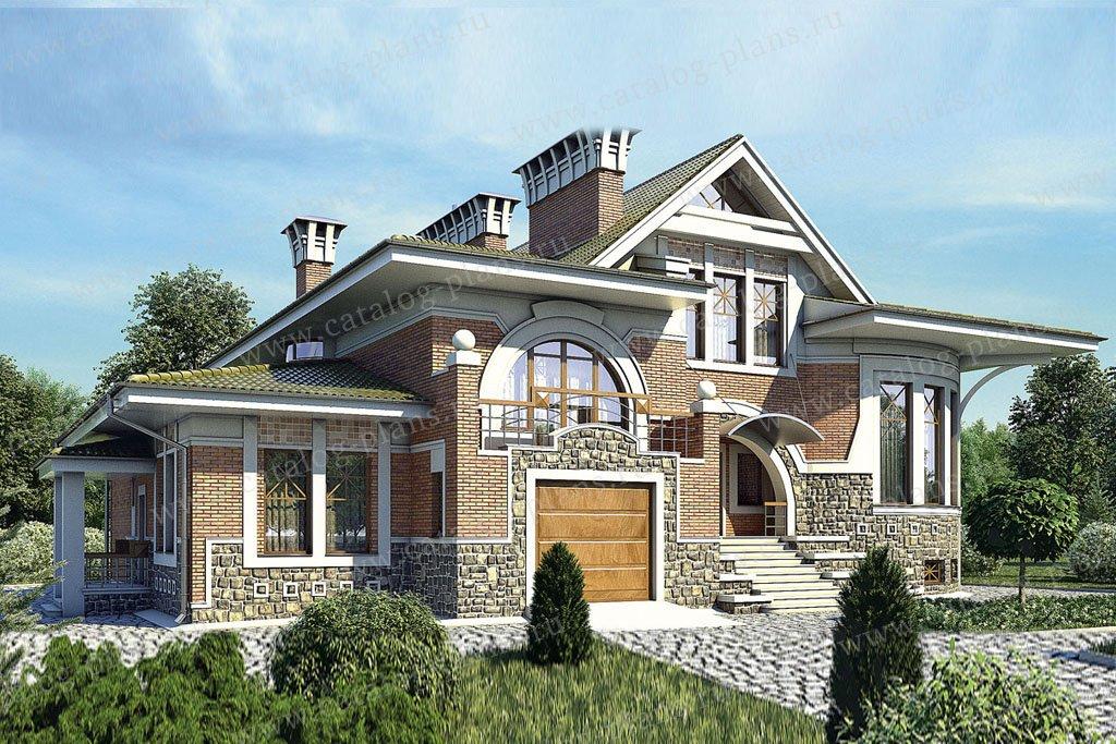 Проект жилой дом #36-19 материал - кирпич, стиль американский
