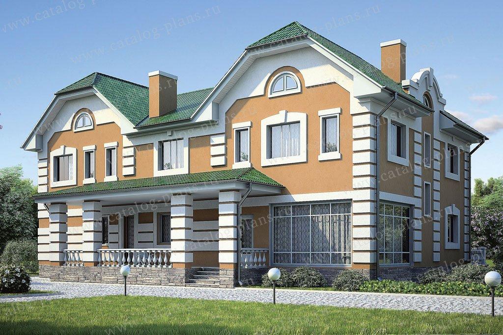 Проект жилой дом #36-66 материал - кирпич, стиль классический