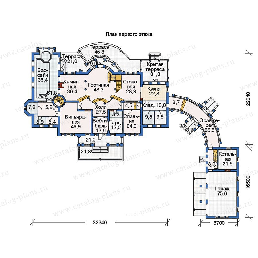 План 1-этажа проекта 36-08