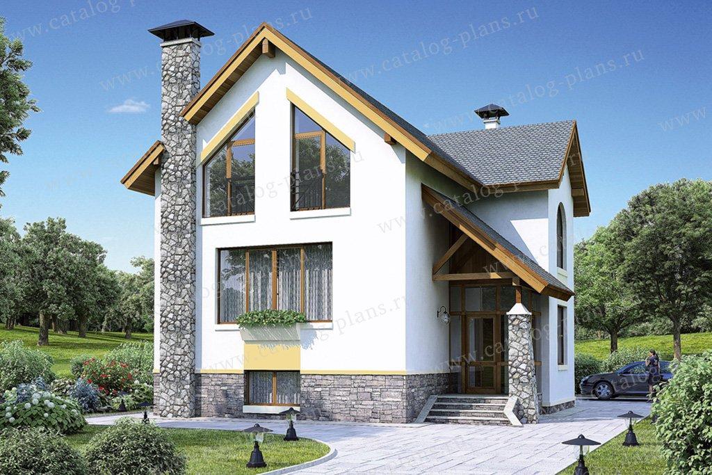 Проект жилой дом #36-87 материал - кирпич, стиль современный