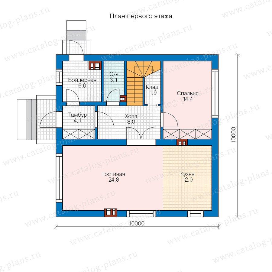 План 1-этажа проекта 60-49