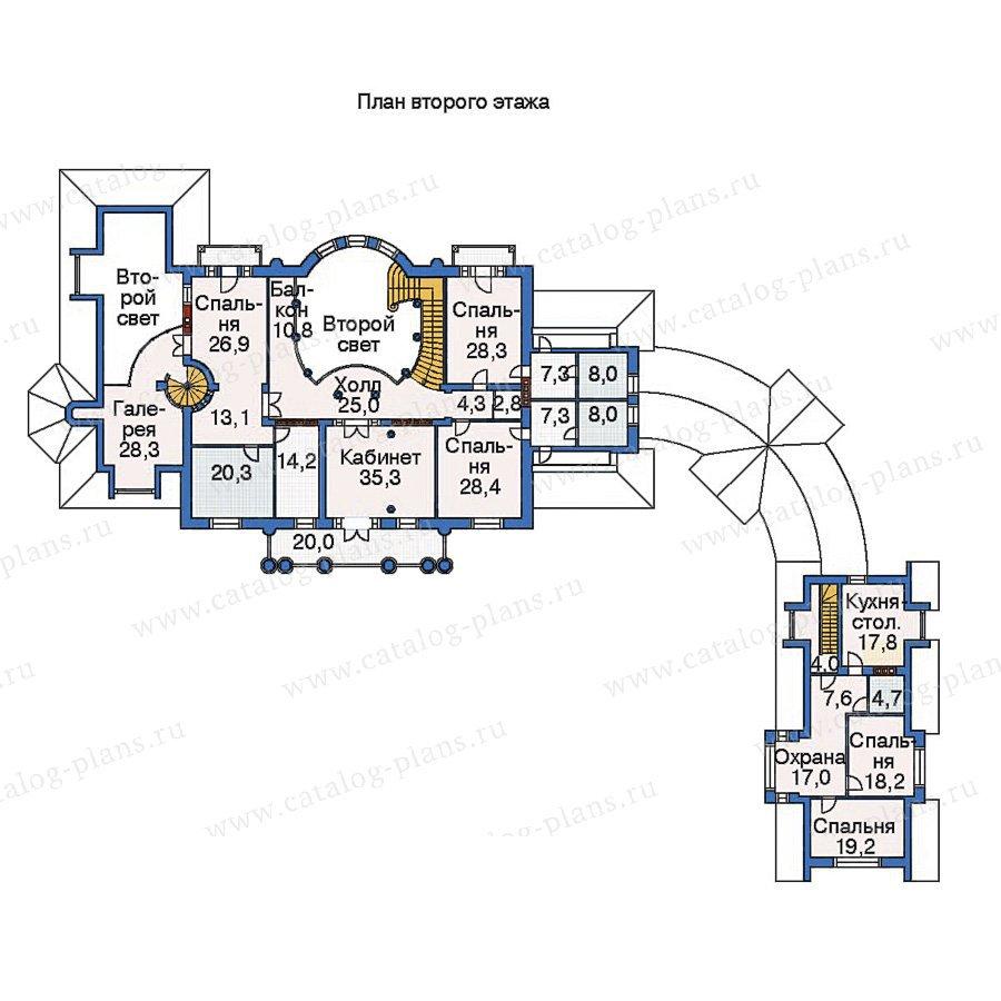 План 2-этажа проекта 36-08