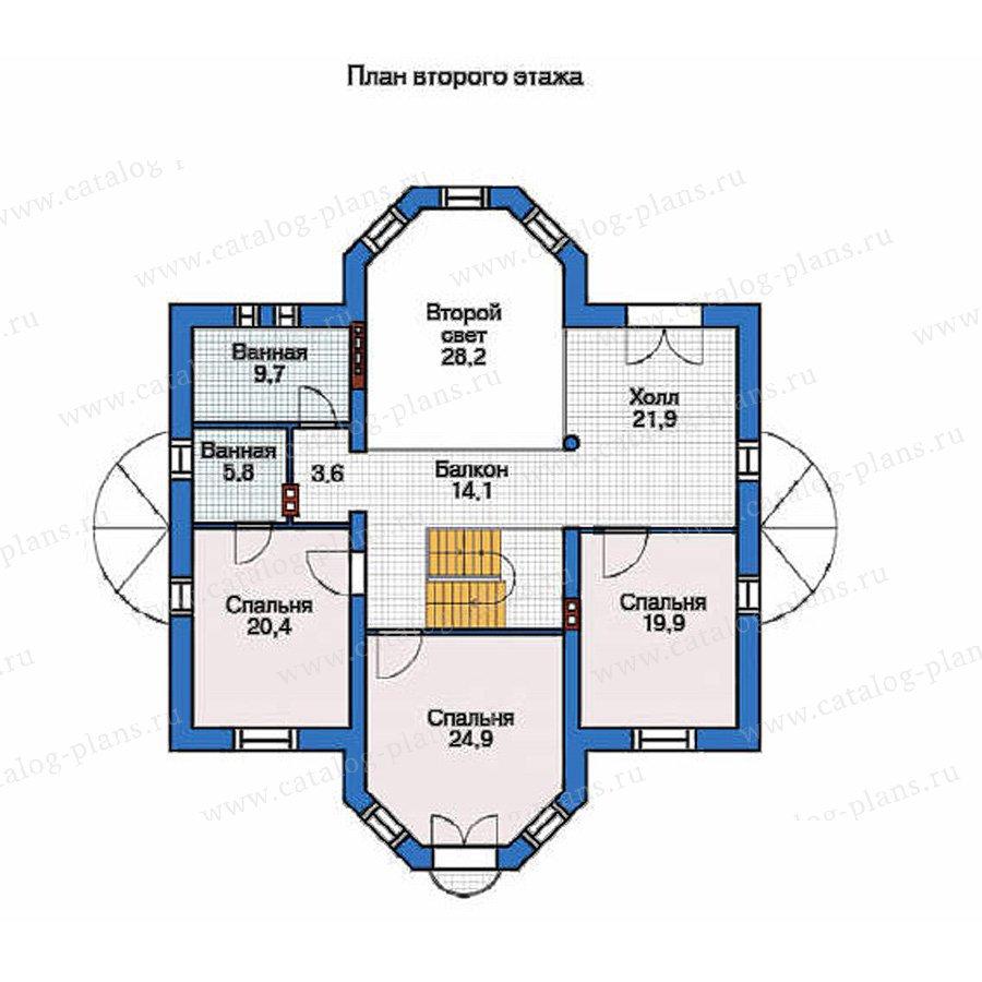 План 2-этажа проекта 36-03