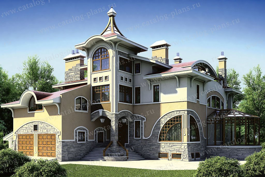 Проект жилой дом #36-21 материал - кирпич, стиль модерн