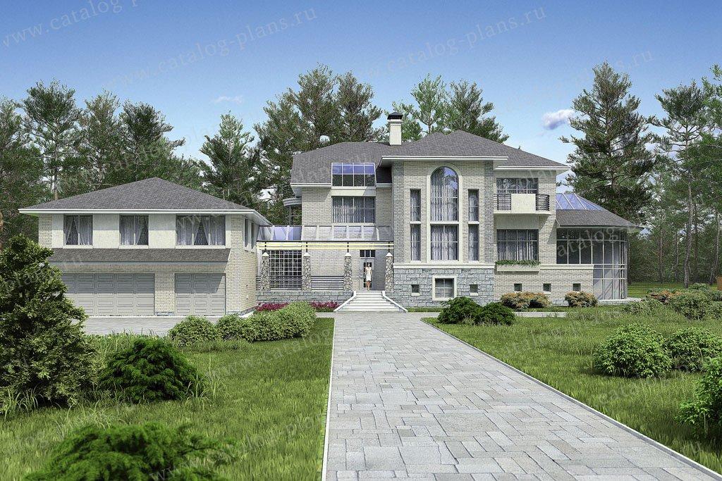 Проект жилой дом #36-51 материал - кирпич, стиль современный