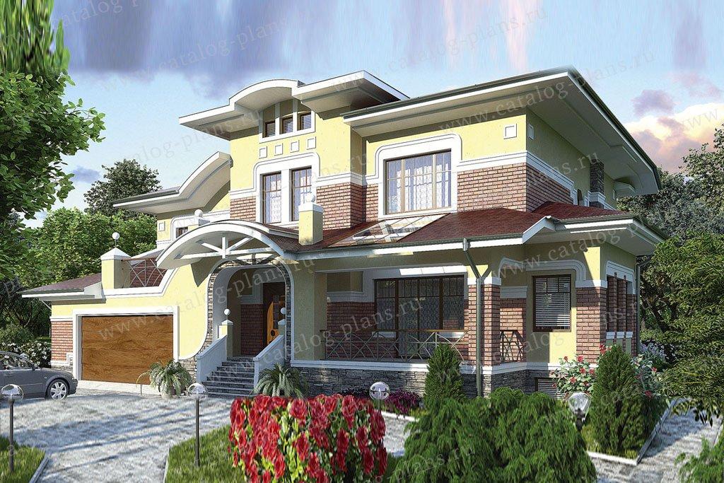Проект жилой дом #36-11 материал - кирпич, стиль американский