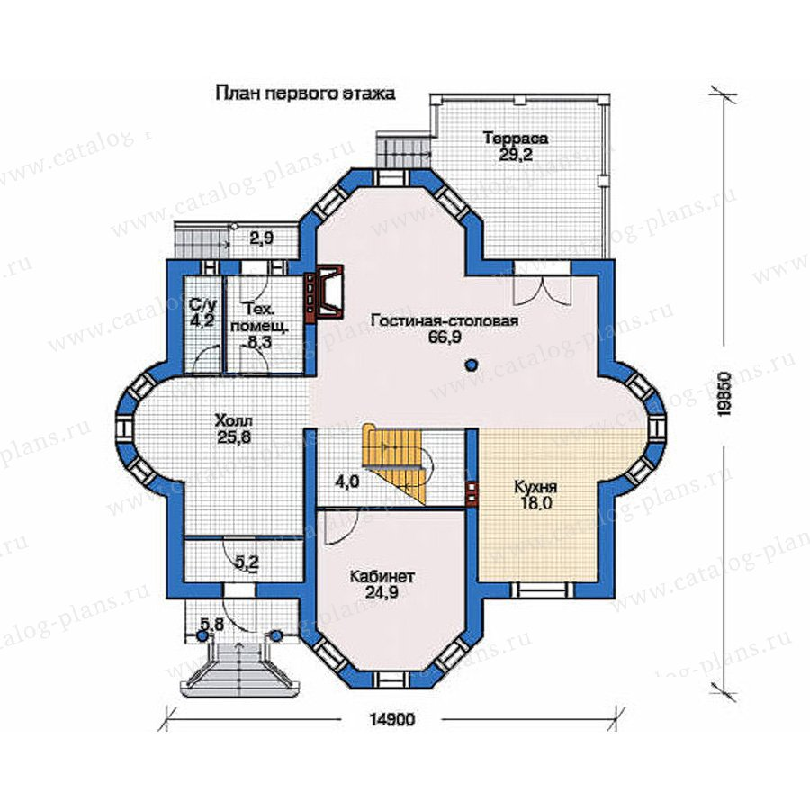 План 1-этажа проекта 36-03