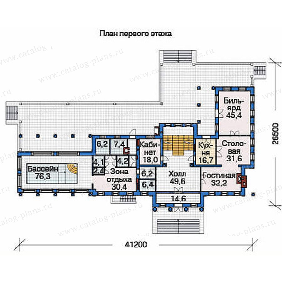 План 2-этажа проекта 36-67