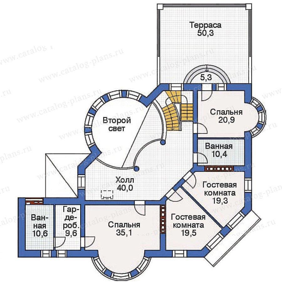 План 3-этажа проекта 36-23