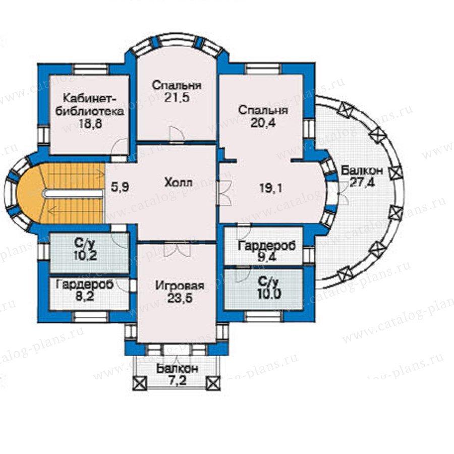 План 3-этажа проекта 36-38