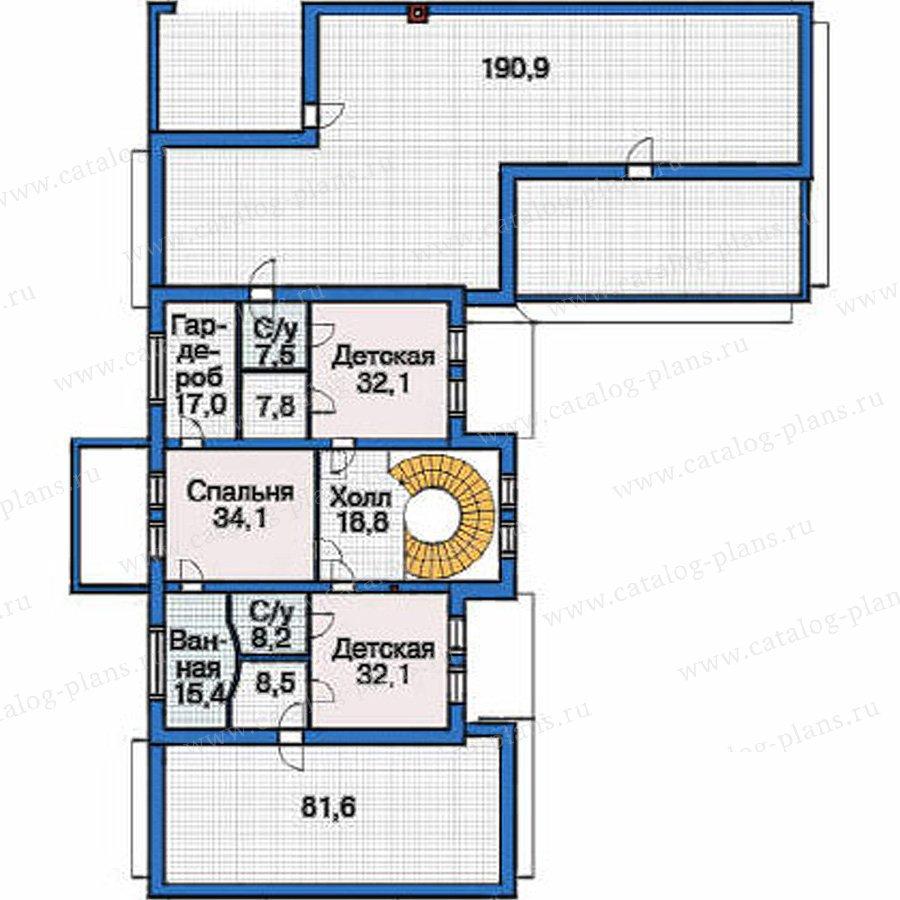 План 3-этажа проекта 36-64