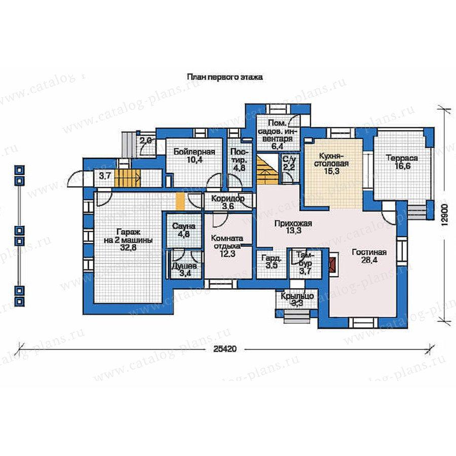 План 1-этажа проекта 36-28