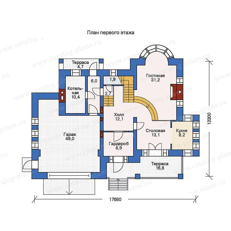 План 1-этажа проекта 36-11
