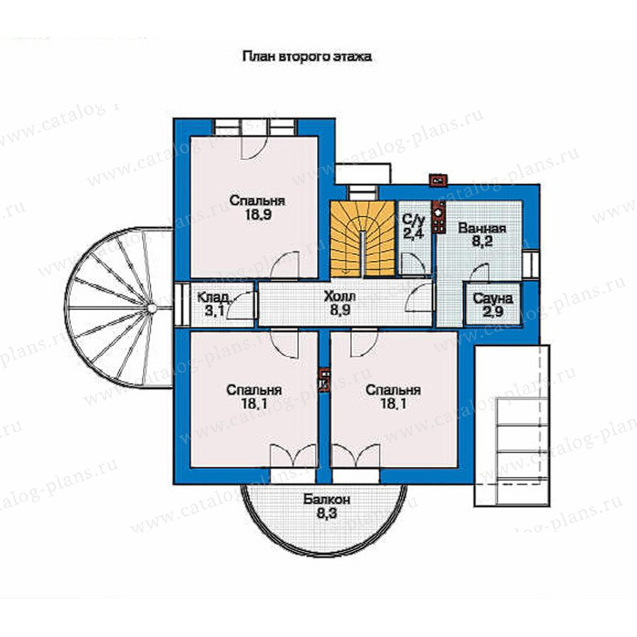 План 2-этажа проекта 36-70