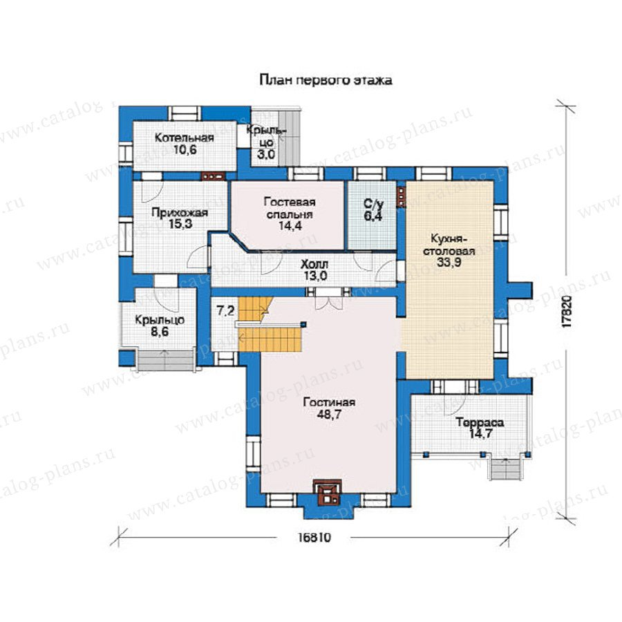 План 1-этажа проекта 36-57