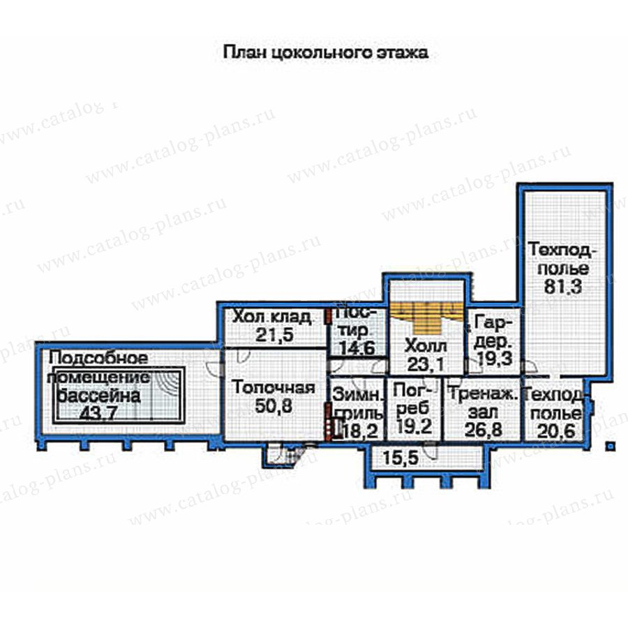 План 1-этажа проекта 36-67