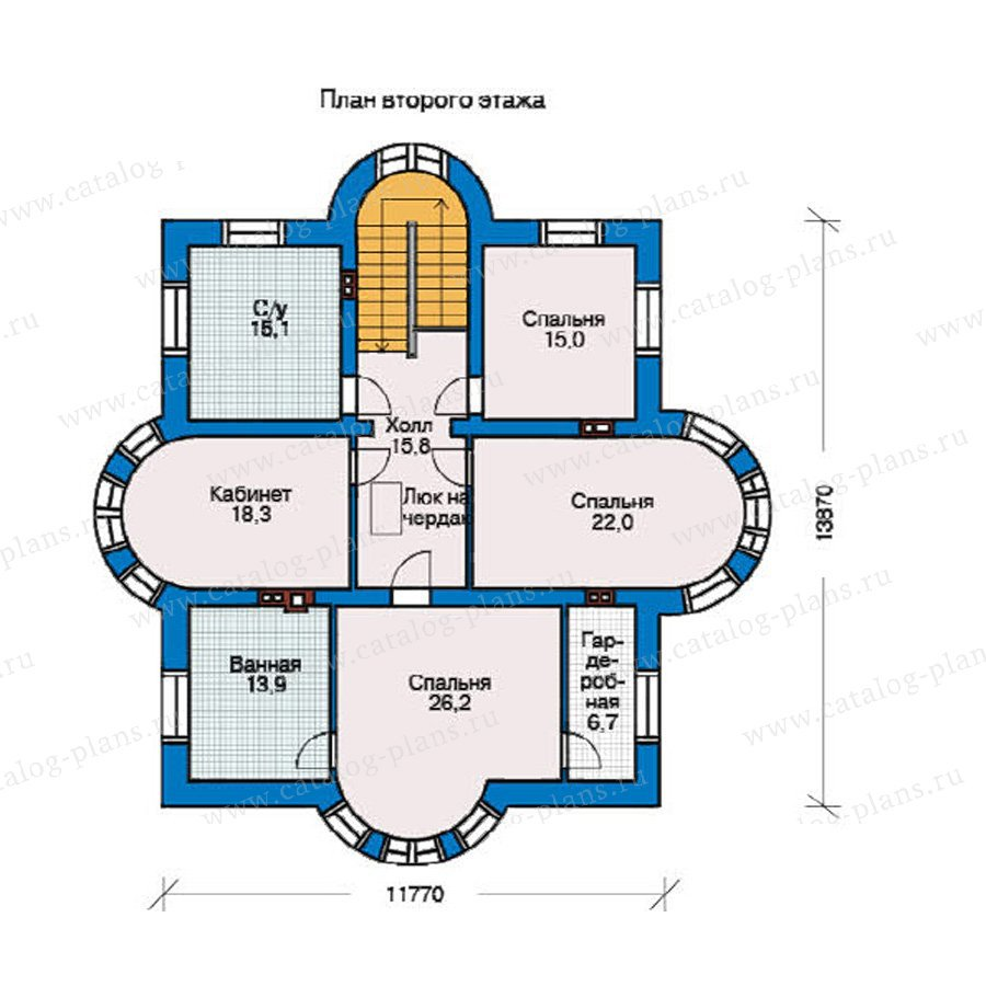 План 2-этажа проекта 36-50