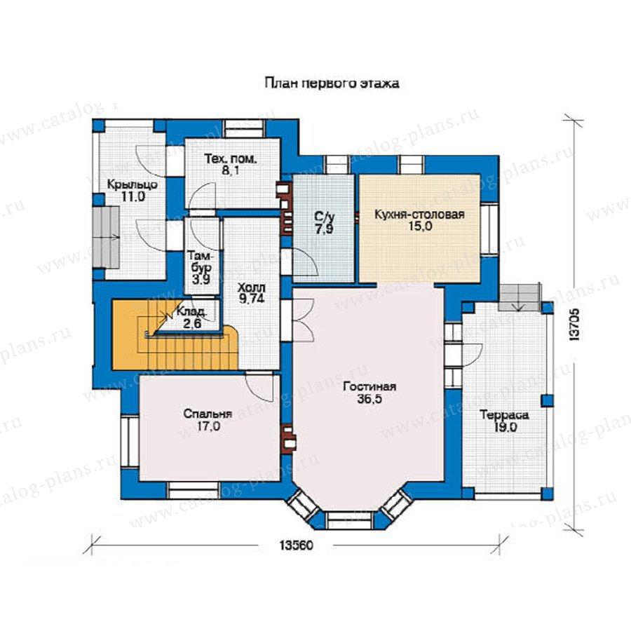 План 1-этажа проекта 36-44