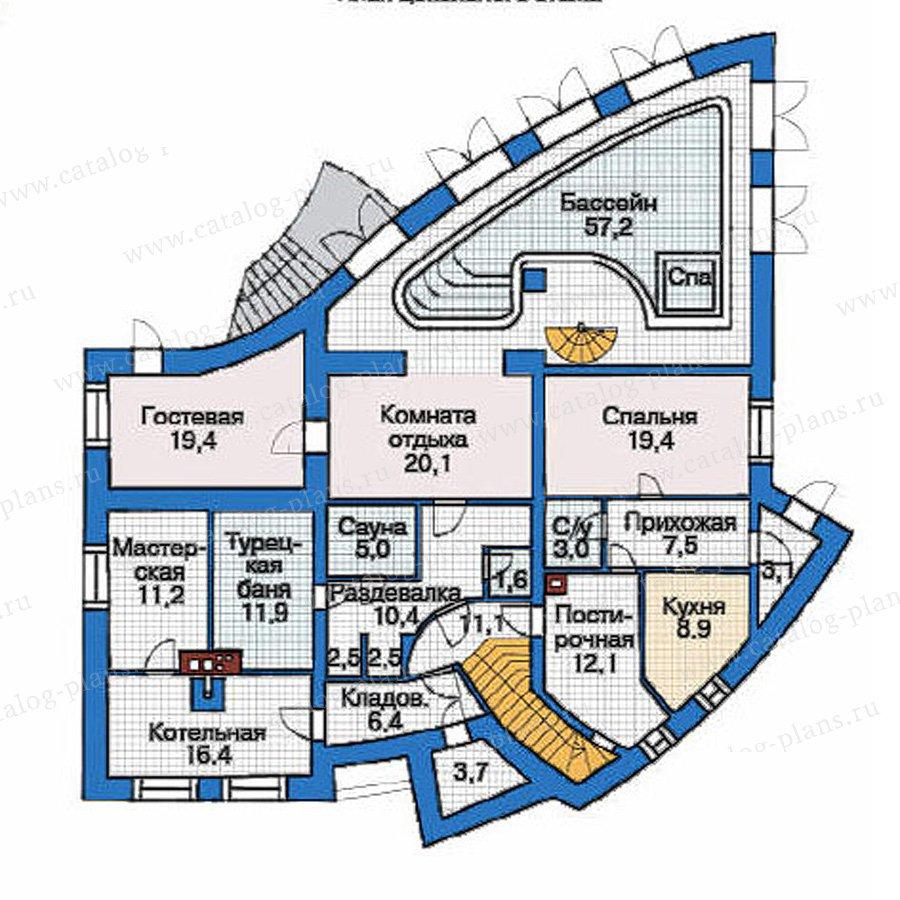 План 1-этажа проекта 36-65