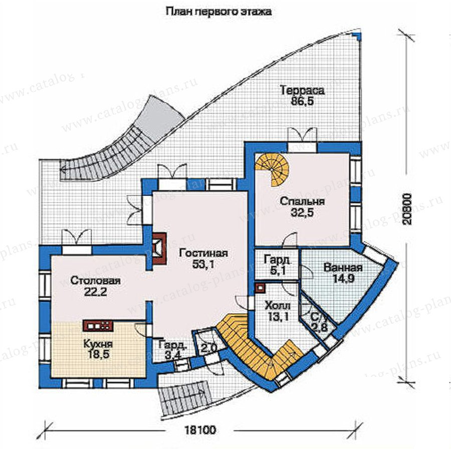 План 2-этажа проекта 36-65