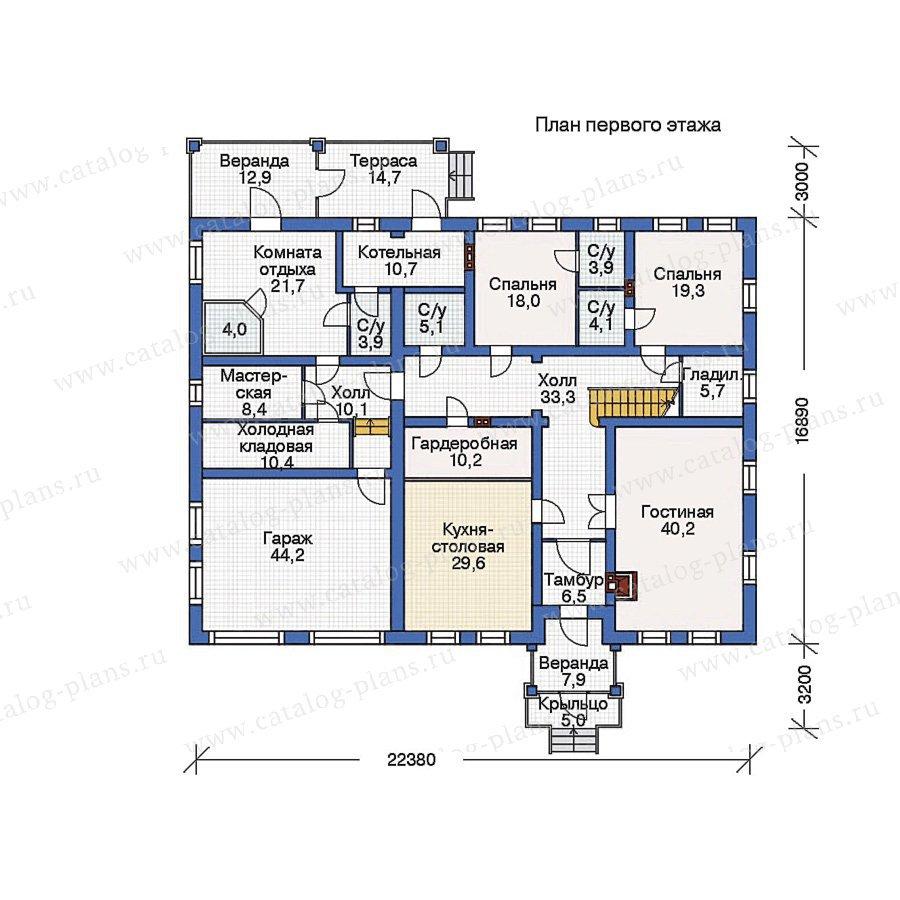 План 1-этажа проекта 36-27