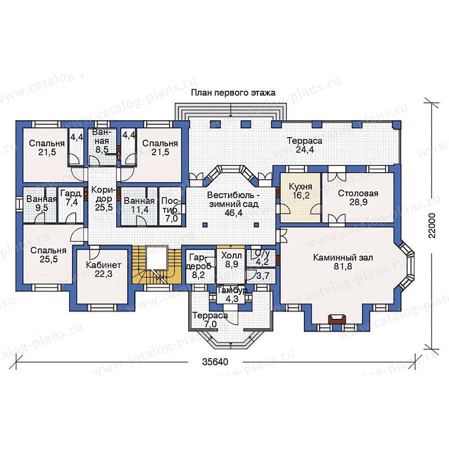 План 2-этажа проекта 36-32
