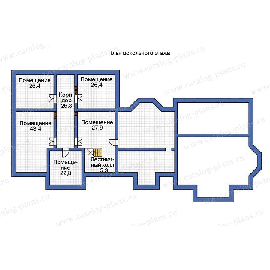 План 1-этажа проекта 36-32