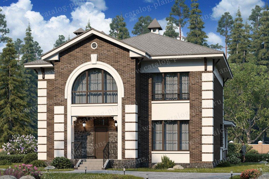 Проект жилой дом #60-45 материал - газобетон, стиль английский