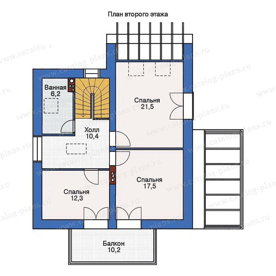 План 2-этажа проекта 36-84