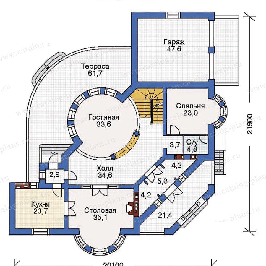 План 2-этажа проекта 36-23