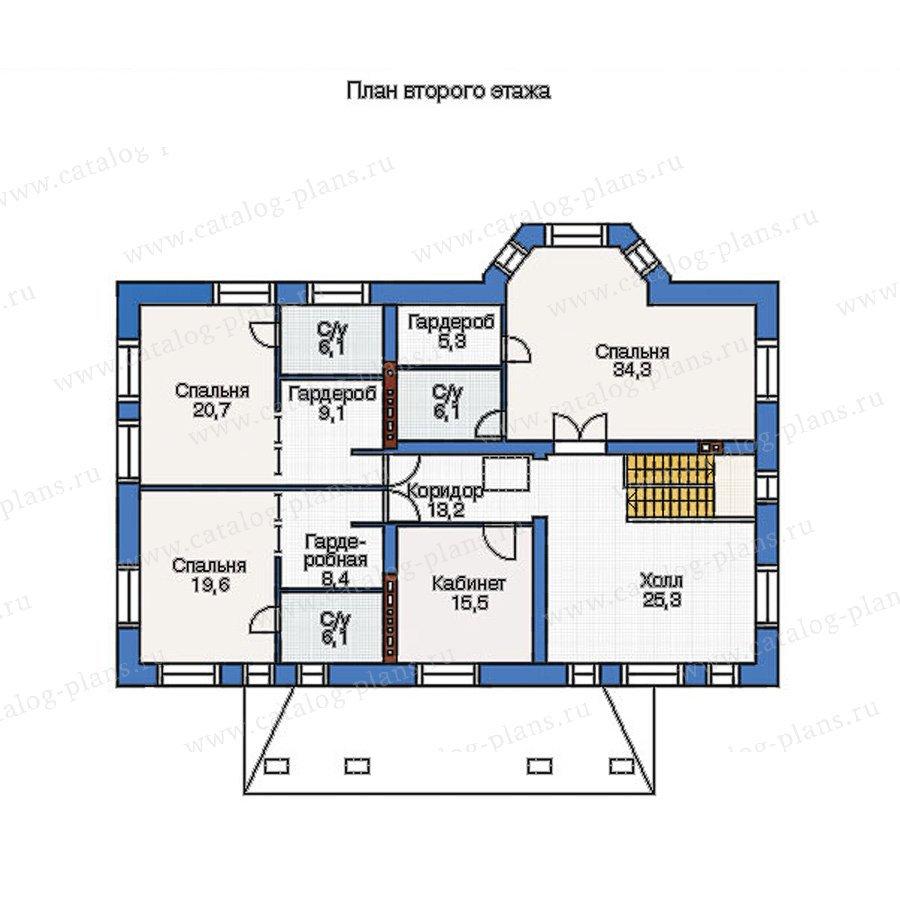 План 2-этажа проекта 36-66