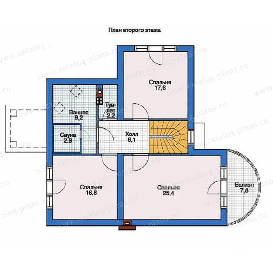 План 2-этажа проекта 36-68