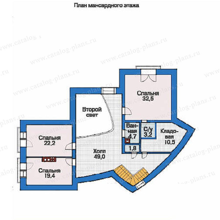 План 3-этажа проекта 36-65