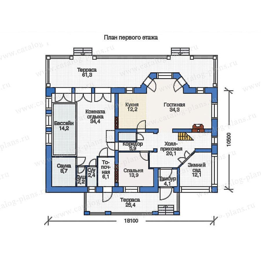 План 1-этажа проекта 36-66