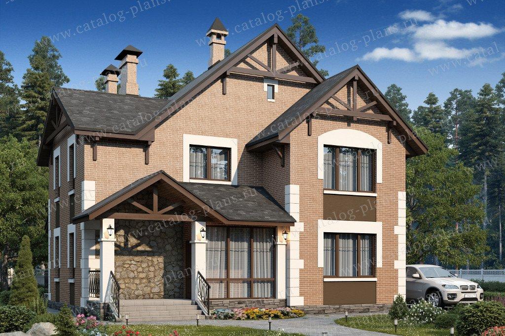 Проект жилой дом #60-42 материал - газобетон, стиль немецкий