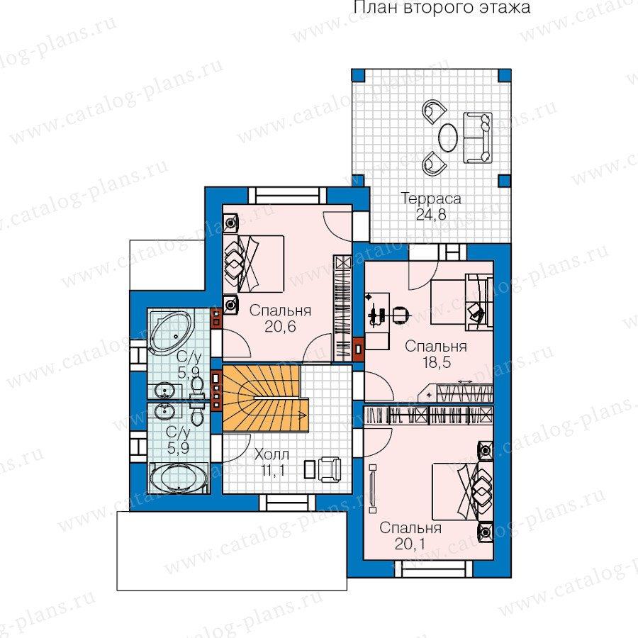 План 2-этажа проекта 60-42