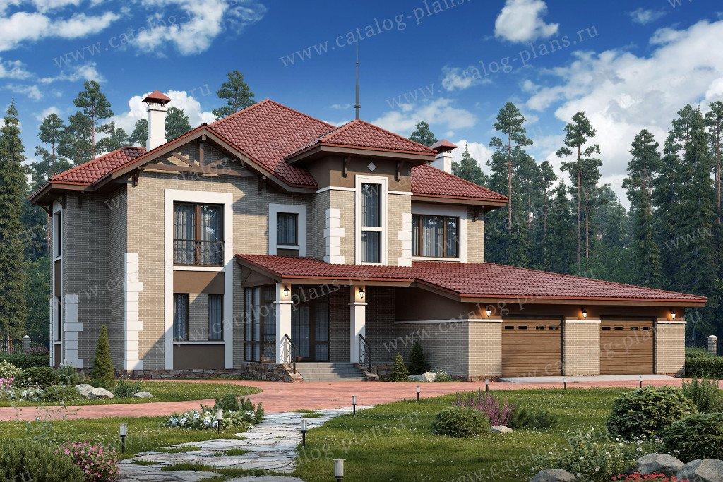 Проект жилой дом #60-40 материал - газобетон, стиль европейский