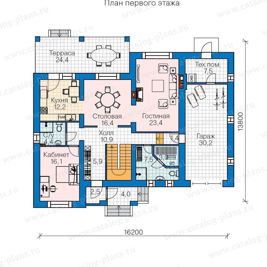 План 1-этажа проекта 60-39