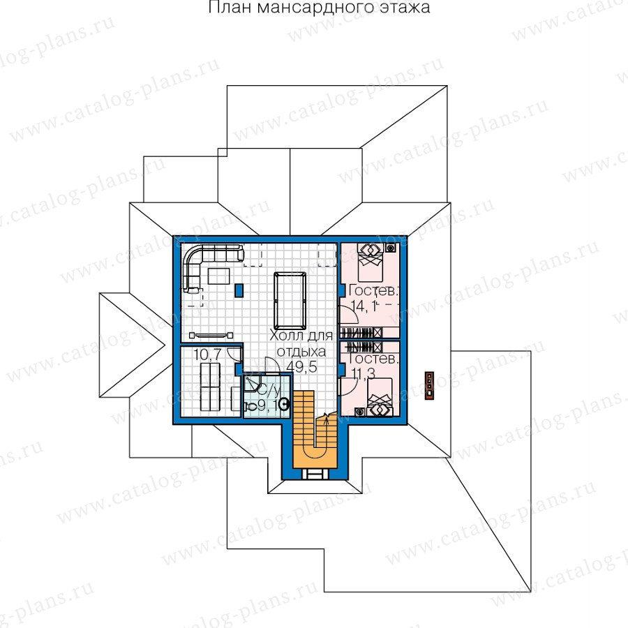План 3-этажа проекта 60-40